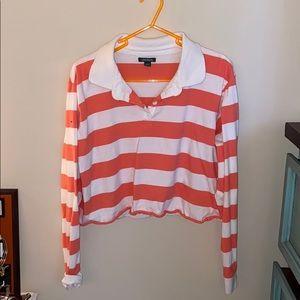 Cropped long sleeve t-shirt